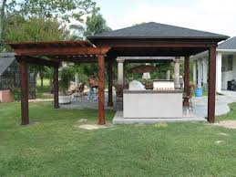 outdoor kitchen roof ideas tin roof outdoor shelter wood patio cover pergola combination