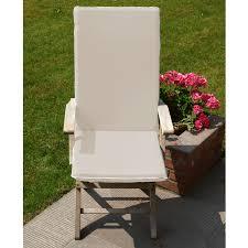 fauteuil dos jardins d hiver coussin pour fauteuil assise et dos écru