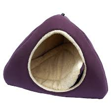 Igloo Dog Houses Purple Suede Dog Bed Igloo Large