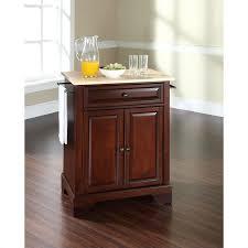 mahogany kitchen island crosley furniture lafayette wood top mahogany kitchen island