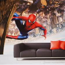 Spiderman Wallpaper For Bedroom Spider Man Wall Mural Custom 3d Wallpaper Super Hero Photo