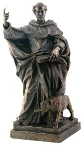 christian statues dominic religious catholic priest collectible