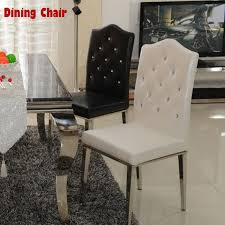 Quality Leather Dining Chairs Find More Metal Chairs Information About New 100 Stainless Steel