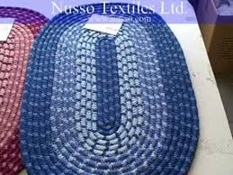 Braided Rugs Instructions Oval Braided Rugs Youtube
