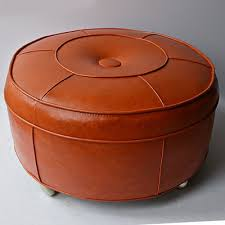 Vinyl Orange Ottoman Vintage Ottomans Antique Footstools And Stylish Poufs In
