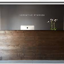 Reclaimed Wood Steel Top Reception Desk Design Pinterest