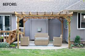How To Cover A Pergola From Rain by Make Your Own Outdoor Pergola Curtains U2013 A Beautiful Mess