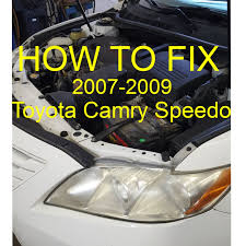 abs light toyota camry how to fix toyota camry speedometer not working 2007 09