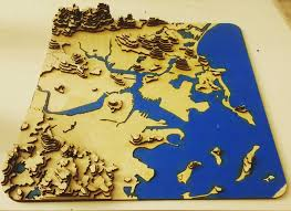 Boston Visitor Map by I Made A Lasercut 3d Topographical Map Of Greater Boston Boston