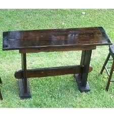 Oak Breakfast Bar Table Oak Bar Table Rustic Oak And Metal Bar Table Solid Wood Breakfast