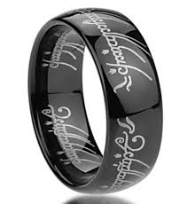 rings of men king will mens 8mm tungsten carbide ring black lord of the rings