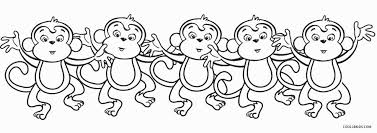 printable coloring pages monkeys free printable monkey coloring pages for kids cool2bkids