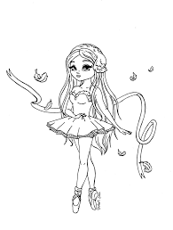 swan lake ballerina by jadedragonne on deviantart line art