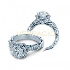 flower halo engagement ring verragio venetian flower halo engagement setting jr dunn jewelers