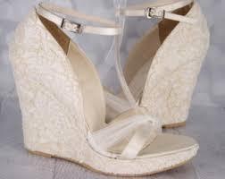 wedding shoes wedges wedding shoes etsy