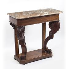 Wall Console Table Antique William Iv Mahogany Marble Top Console Table Wall Demilune