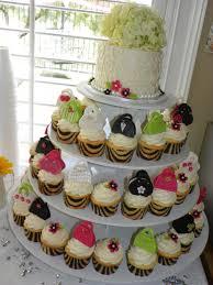 plumeria cake studio bridal shower mini purse cupcake tower