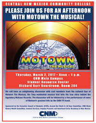 Cnm Montoya Campus Map Motown The Musical U201d Panel Discussion U2013 The Cnm Chronicle