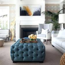 Blue Wingback Chair Design Ideas Wingback Chairs With Ottoman Blue Tufted Chair Design Ideas Two