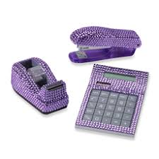 Purple Desk Organizers Bling Desk Accessories House Decor Ideas Page