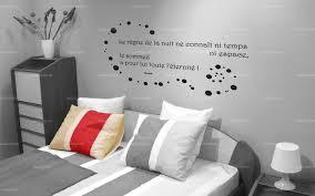 stickers de pour chambre sticker citation le règne de la nuit le sommeil a pour lui