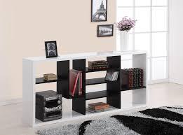 amazon com iohomes fuzion two tone bookcase black and white