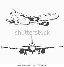airplane hand draw sketch stock vector 530624971 shutterstock