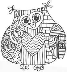 fall coloring pages printables simpàtic mussol doodles zentangles patterns pinterest
