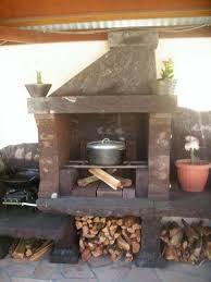 feu de cuisine d été au feu de bois et barbecue de la villa