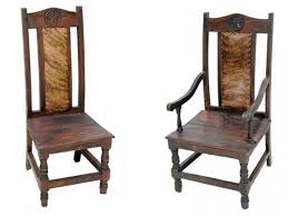 Cowhide Dining Room Chairs Dallas Designer Furniture Dark Rope And Star Rustic Dining Room Set