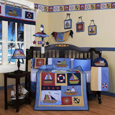Nautical Baby Nursery Baby Boy Room With Wallpaper Border And Ship Bedding Choosing