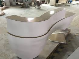 Oval Reception Desk Reception Desk Tell World Solid Surface Co Ltd Page 1