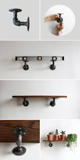 Steel Pipe Shelving by Diy Industrial Pipe Shelves Super Easy Pipes And Industrial