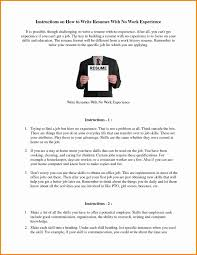 Fake Work Experience Resume How To Write A Resume If You Have No Experience Resume For Your