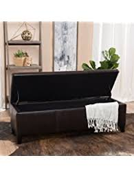 Leather Storage Ottoman Ottomans U0026 Storage Ottomans Amazon Com