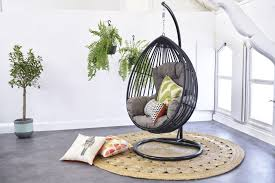 adding hanging swing chair for more comfortable room with unique
