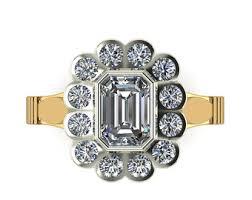 moissanite vintage engagement rings 2ct moissanite vintage engagement ring 14k white gold