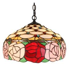Flush Mount Stained Glass Ceiling Light Amora Lighting 2 Light Tiffany Style Ceiling Fixture Lamp