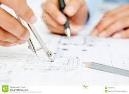 drawing floor plans by hand macro of hands on blueprint royalty free stock photo image 32777735
