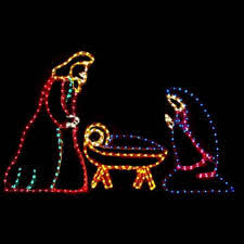 lighted religious sculptures
