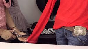 long sleeve t shirt cutting ideas diy shirt alterations youtube