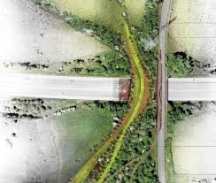Valley Green Landscaping by Euan Maharg U0027s Lush And Green Motorway Bridge Design Wins The Seven