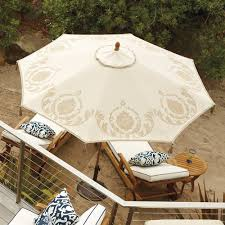Frontgate Patio Umbrellas Our Diy Designer Patio Umbrella With Tassels And A Half Umbrella