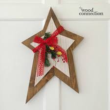 christmas star door hang christmas stars unfinished wood crafts