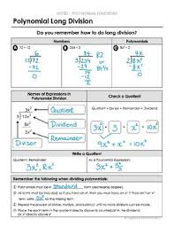 polynomial long division lesson by algebra and beyond tpt