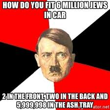 Meme Generator Two Pictures - how do you fit 6 million jews in car 2 in the front two in the back