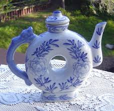 shaped teapot blue and white donut shaped teapot from the gallery