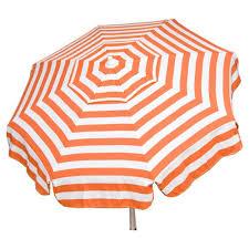 Orange Patio Umbrella by Parasol Bar Height Pole 6 U0027 8 Umbrella Acrylic Stripes Orange And