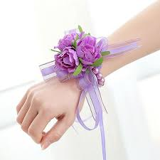 wrist corsage supplies 2018 handcrafted wrist corsage bracelet artificial silk
