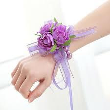 wrist corsage bracelet 2018 handcrafted wrist corsage bracelet artificial silk